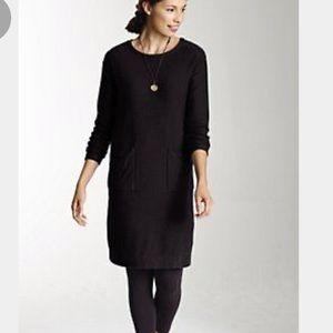 J.JILL Luxe Black Cotton Cashmere Sweater Dress XS
